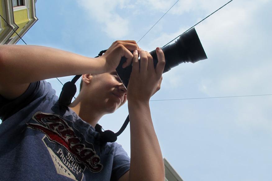 Jugendjournalisten der Medienschmiede in Dresden unterwegs